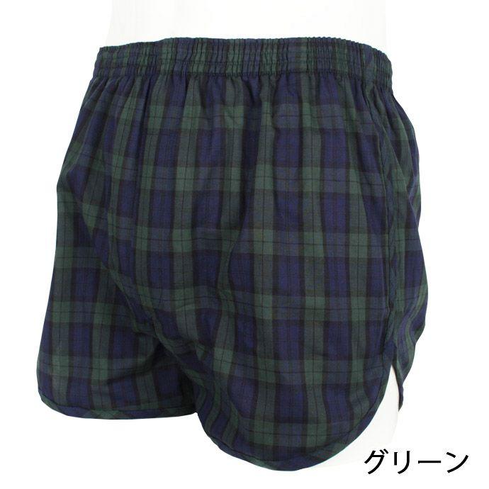 【ニシキ】【C486】安心トランクス【80cc】【チェック柄】【S/M/L/LL】綿100%/日本製/尿漏れパンツ失禁男性用