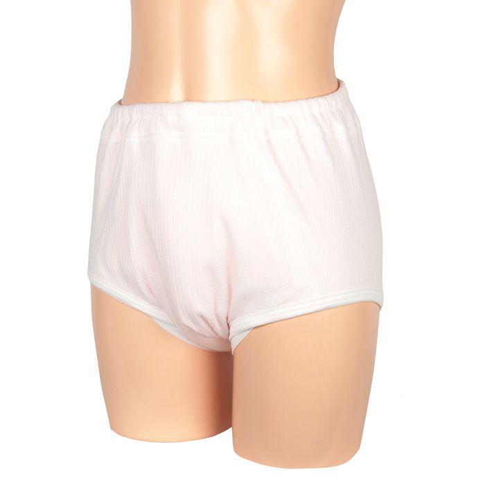 【32030】婦人重度失禁パンツ【パッド部300cc】【S/M/L/LL/3L】綿100%/日本製/ピンクのみ/尿漏れショーツ失禁女性用