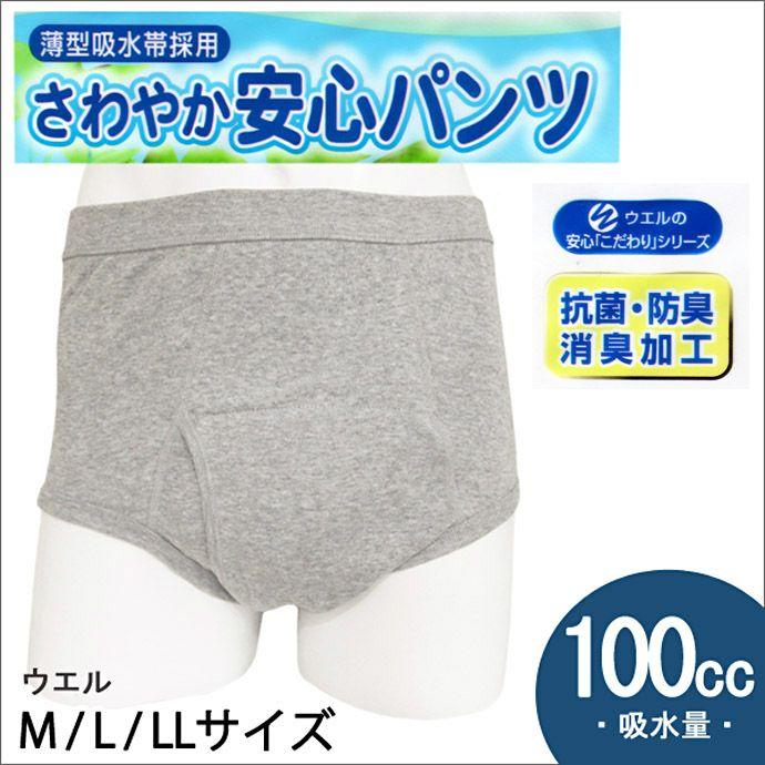 【ウエル】さわやか安心パンツ【ブリーフタイプ】【100cc】【M/L/LL】