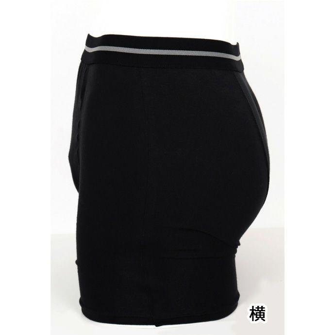 【NEWフィフティ】ボクサーパンツ【55cc】【5L】帝人ベルオアシス使用/ブラックのみ/日本製/尿漏れパンツ失禁男性用