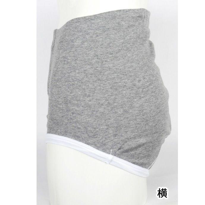 【グンゼ】【2枚組】【HW8231】らくらく肌着【ブリーフ前あき】【20cc】【M/L】綿100%/グレー杢・ホワイト/尿漏れパンツ失禁男性用