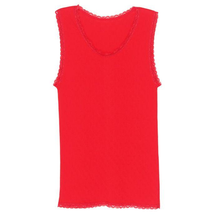 【Nojima(ノジマ)】【ガーゼ赤】女性肌着【ノースリーブ】【LL】赤のみ/綿100%/日本製